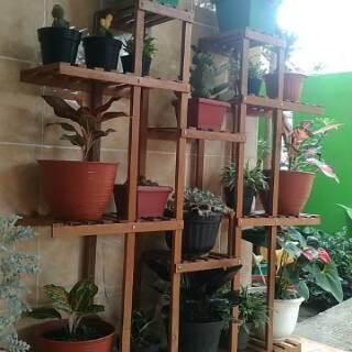 rak bunga kayu #dekorasitingkat | shopee indonesia