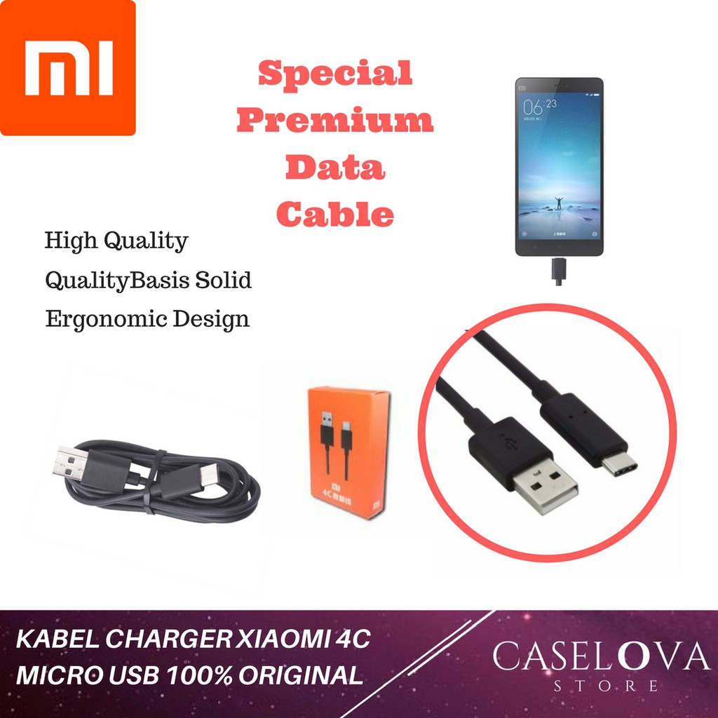 Kabel Data Charger Xiaomi USB Type C 2A ORIGINAL Xiaomi Mi4c / Mi 4c / Mi 5 / Mi5 | Shopee Indonesia