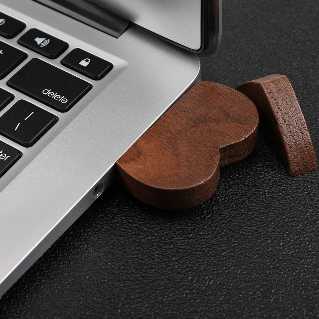 16//32//64GB USB 2.0 Pen Drive Flash Drive Pendrive Memory Stick//Wooden Heart Gift