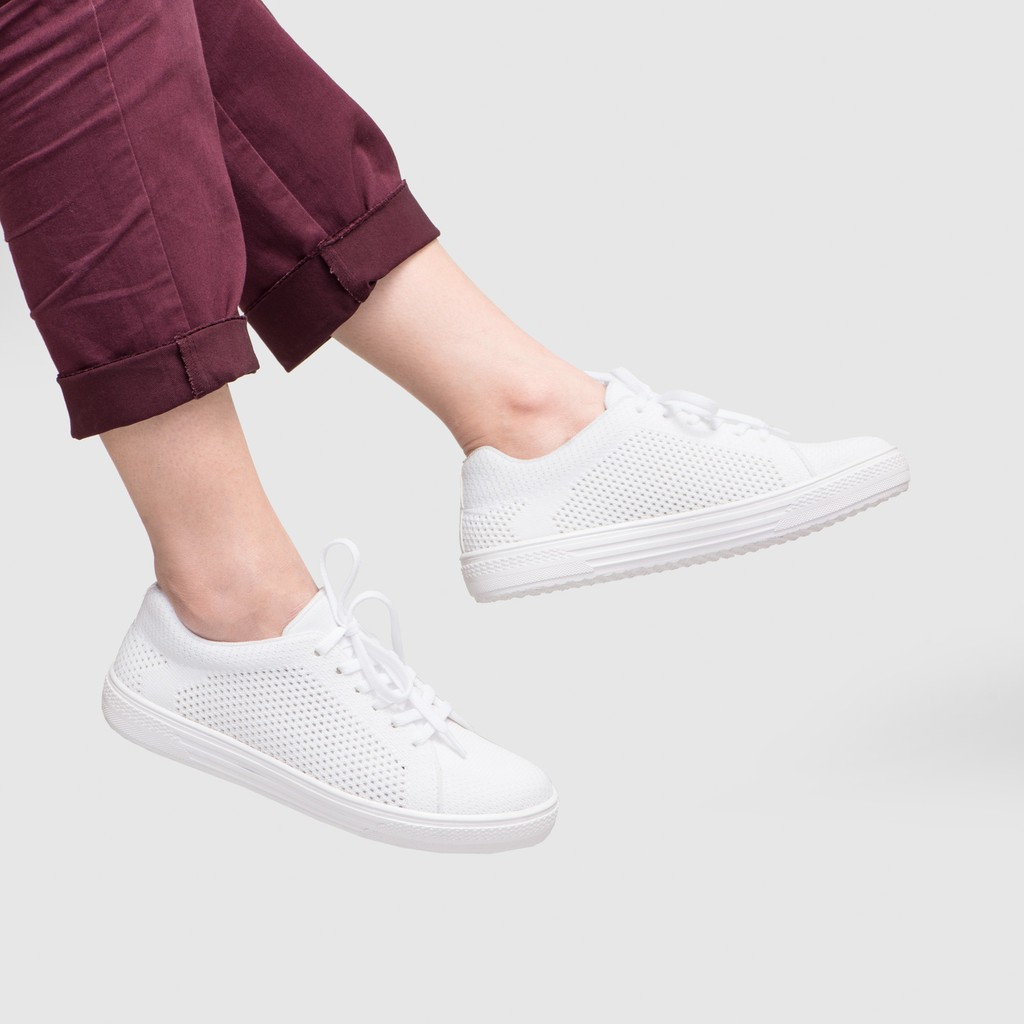 Trizio White Sneakers Shopee Indonesia Amazara Evelyn Putih 36