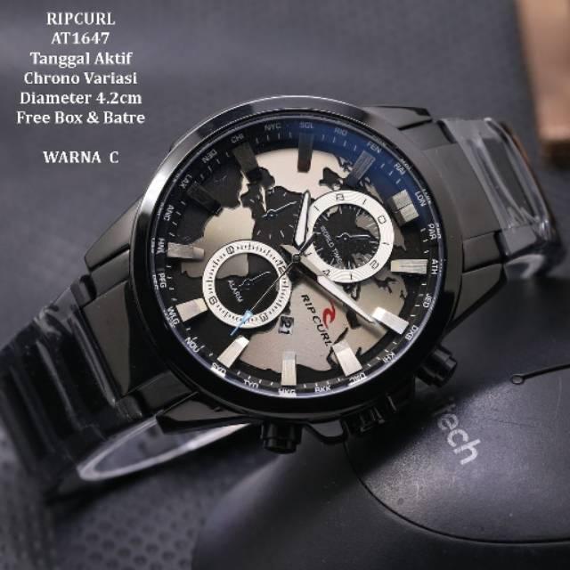 TURUN HARGA Jam tangan pria tanggal aktif Chrono Variasi RIPCURL AT1647  Tali rantai super  bac9ae87d2