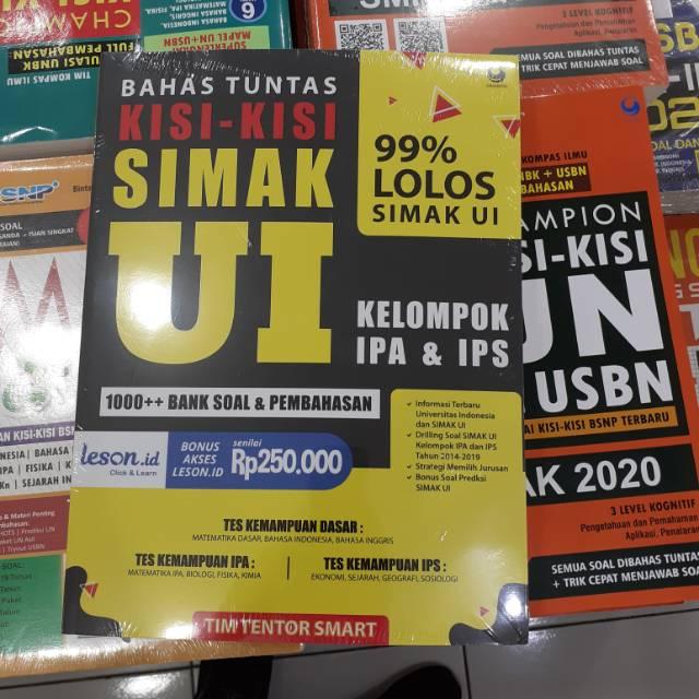 Buku Latihan Soal Pembahasan Bahas Tuntas Kisi Kisi Masuk Simak Ui 2020 Grasindo Shopee Indonesia
