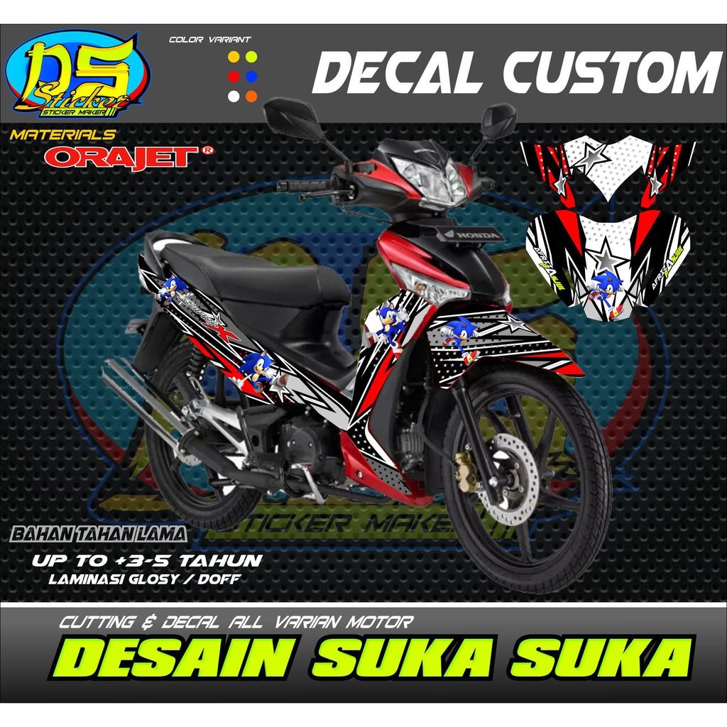 Decal stiker sticker supra x 125 01 spec a shopee indonesia