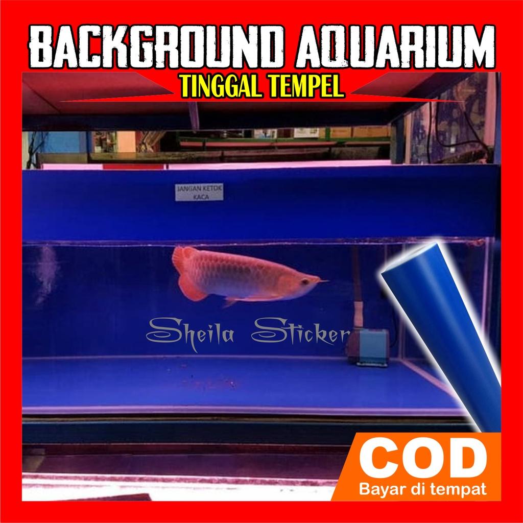 sticker skotlet background aquarium biru doff
