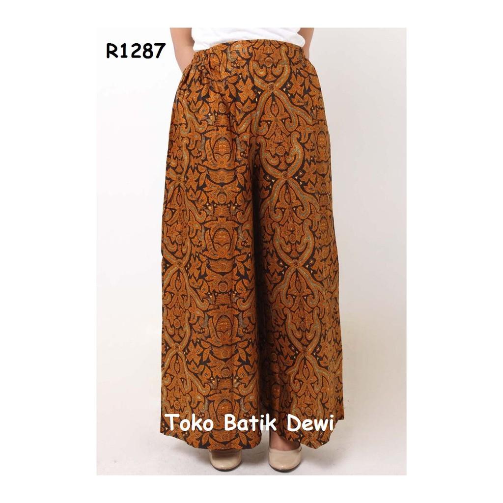 Celana Batik Panjang | Celana Kulot | Batik Wanita | Batik Yogyakarta | Shopee Indonesia