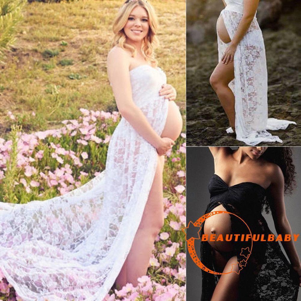 Save 24 Baju Menyusui Idiskon Justmom Sania Black Stripe Sn115 Eub Pregnant Women Front Split Long Maxi Maternity Dress Gown Photo Photog