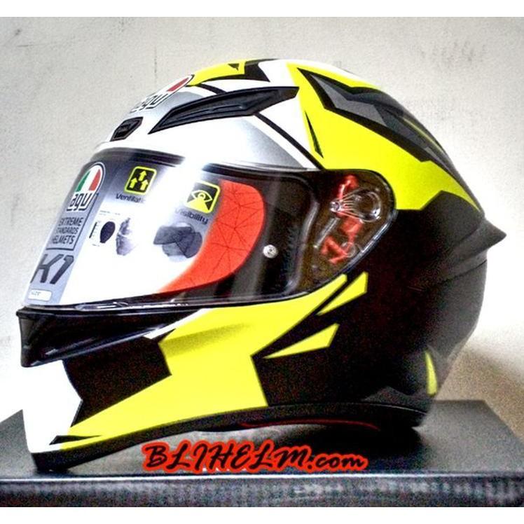 Jual Helm Agv K1 Sni Replica Mir 2018 K 1 Full Face Helmet Asian Fit Single Visor Original Diskon Shopee Indonesia