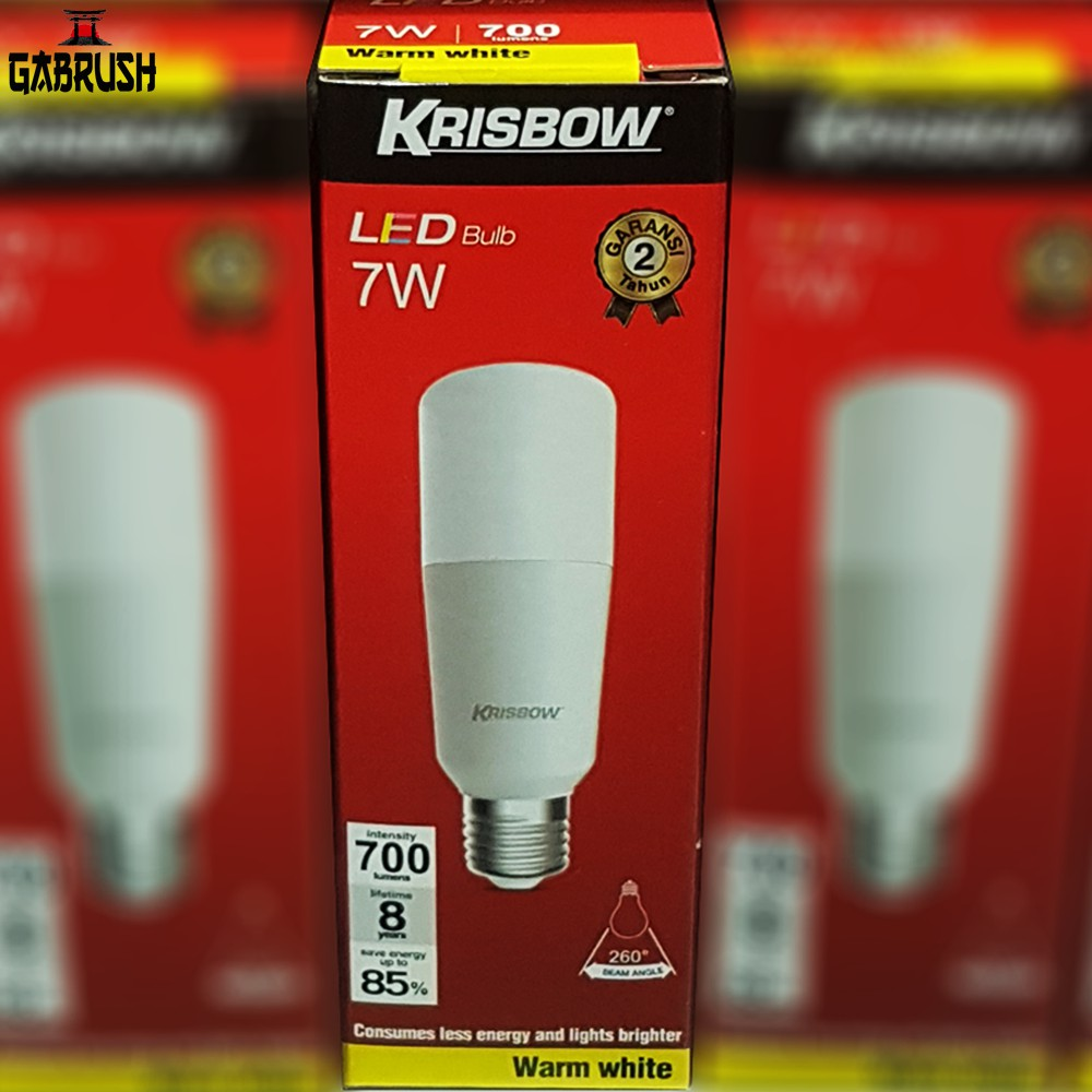 Lampu Bohlam Led 7 Watt Tubular Krisbow Shopee Indonesia