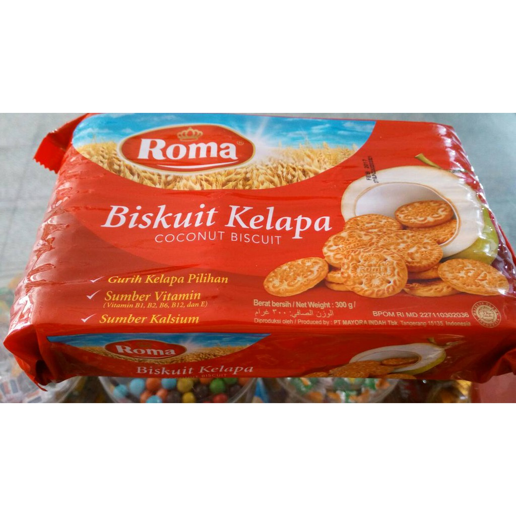 Biskuit Roma Kelapa Family Pack 300g Shopee Indonesia