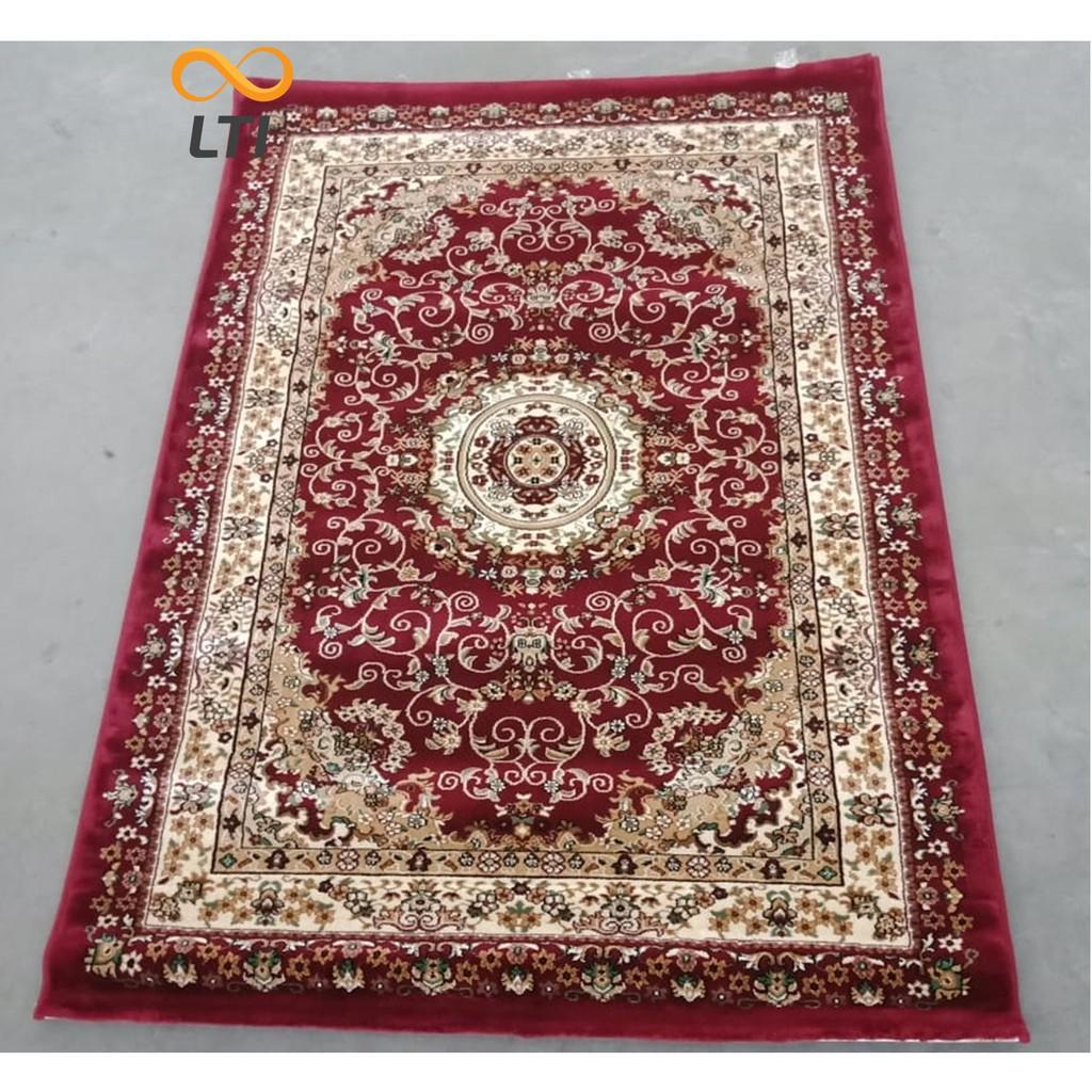 Permadani Karpet Lantai Lokal Moderno Merah Terang 160 X 210 Stardust Zebra 100x150 Shopee Indonesia