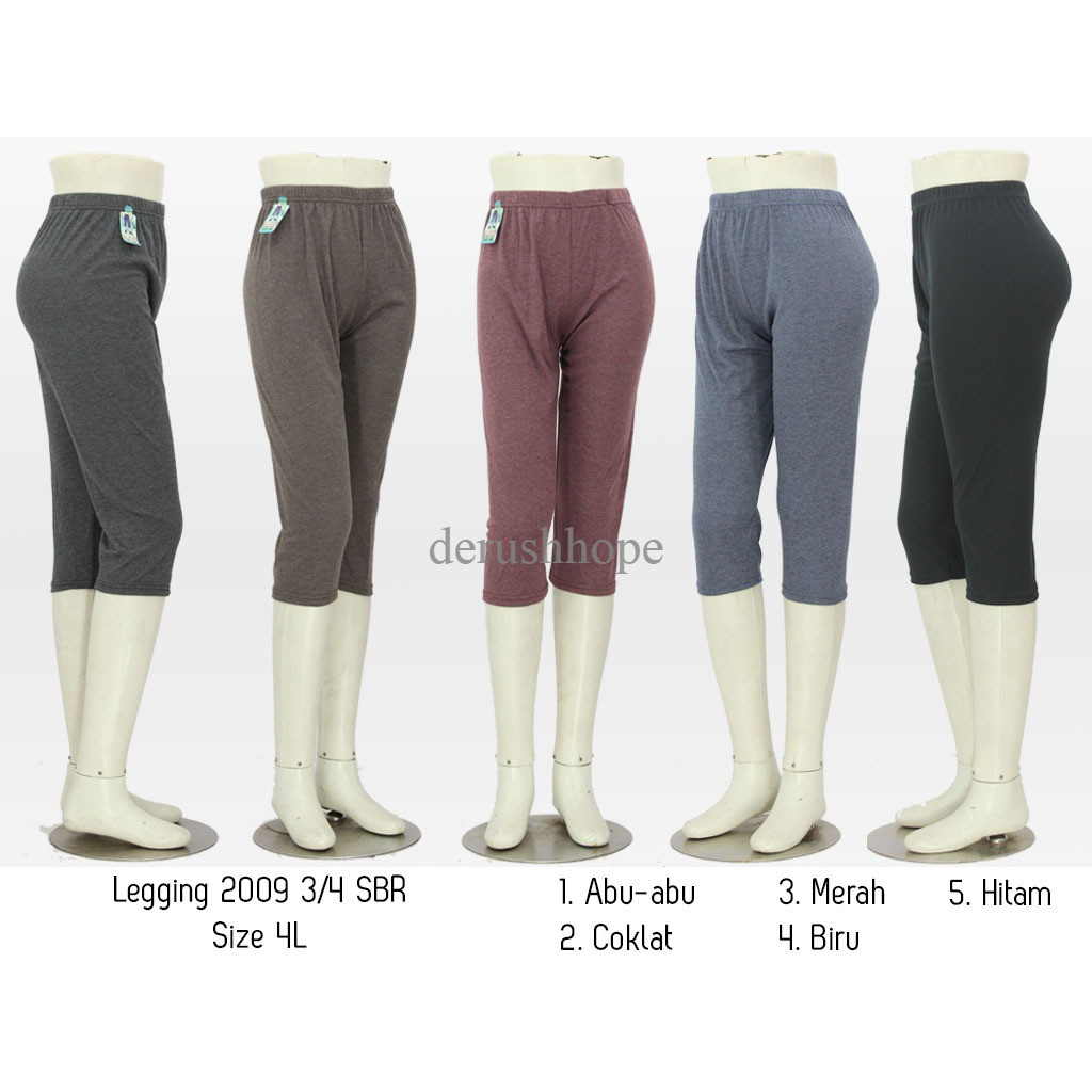Celana Legging Wanita 3 4 Legging 3 4 Shopee Indonesia