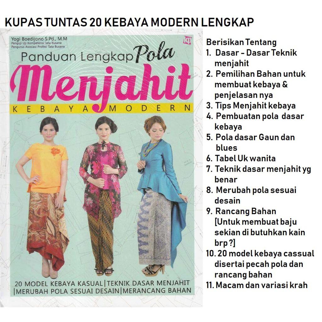 Buku Belajar Menjahit Pola Modern Shopee Indonesia Panduan