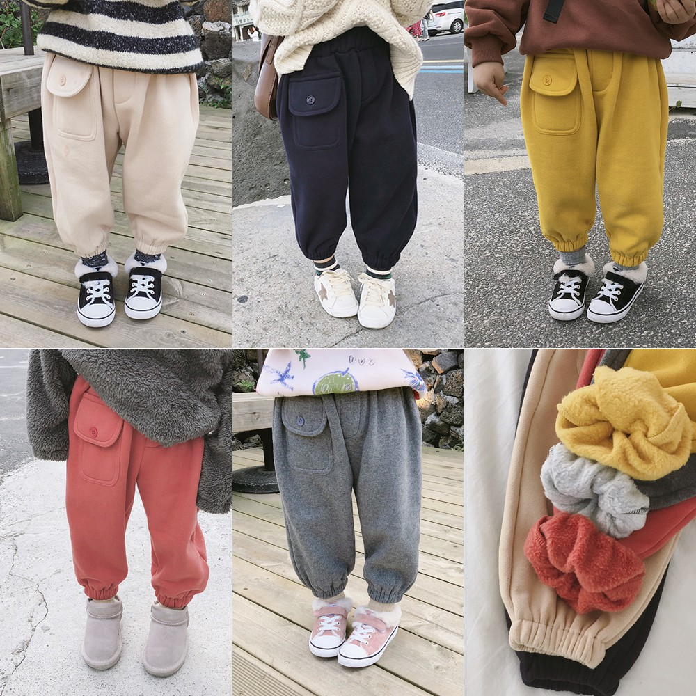 2018 musim dingin celana anak-anak Korea baru TK celana olahraga liar celana kas |