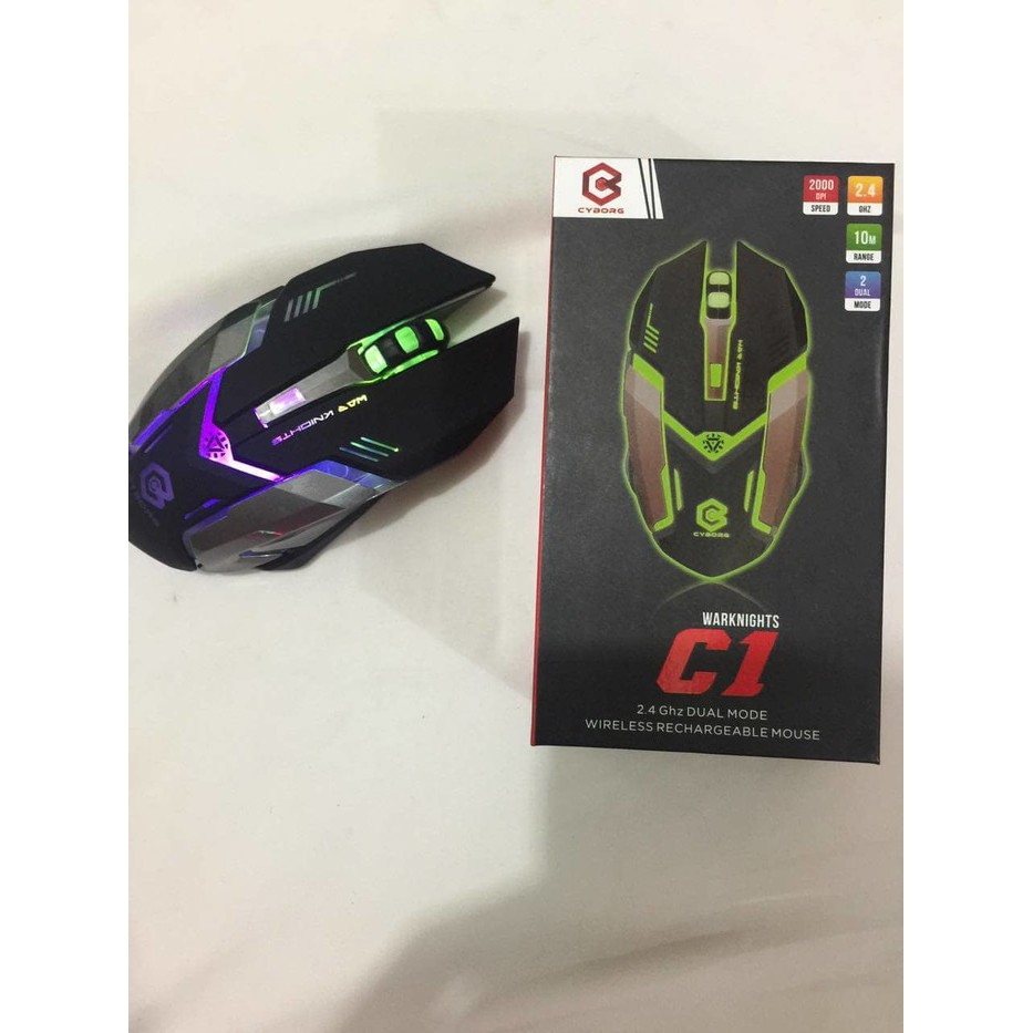 Cyborg C1 Warknights Mouse Wireless Gaming Rechargeable Daftar Azzor Usb 2400 Dpi 24g Black Pakai Cas Charger Shopee Indonesia