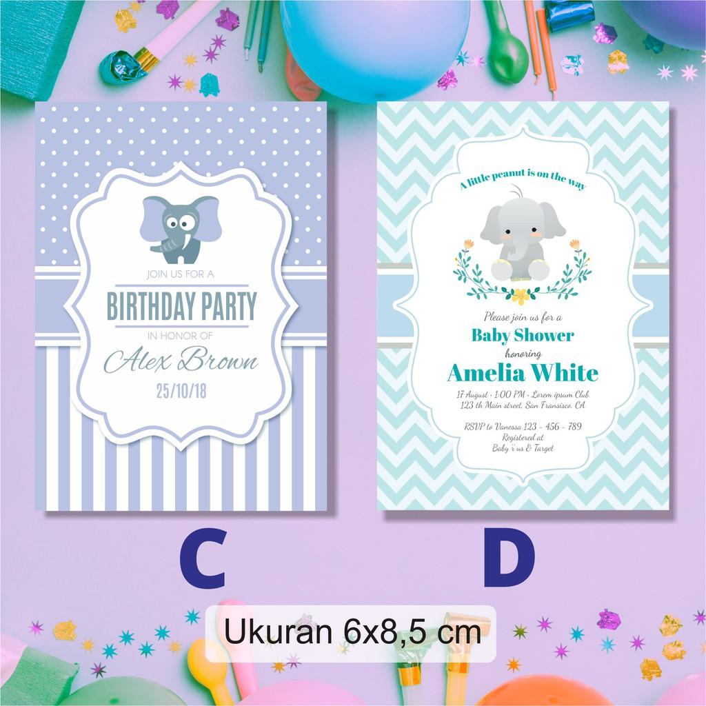 Undangan Kartu Ucapan Ulang Tahun Anak Aqiqoh Tasyakuran Birthday Shopee Indonesia