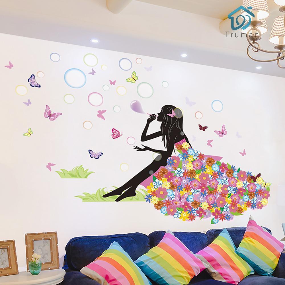 Stiker Dinding Dengan Bahan PVC Mudah Dilepas Dan Gambar Motif Kupu Kupu