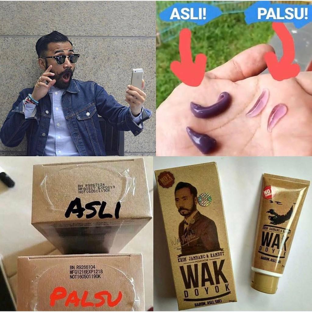 Krim Jambang Wak Doyok Penumbuh Bulu Original Wakdoyok Malaysia 75ML Cream Jambang Penumbuh Rambut | Shopee Indonesia