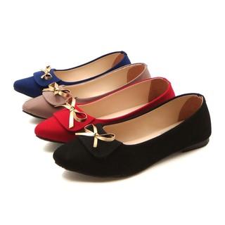 ESTORE Flatshoes Wanita Ancestry FS24 / flat Pita GOLD Warna Hitam, Merah, Abu,