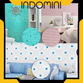 indomini wallpaper dinding 3d bata dekorasi walpaper polos