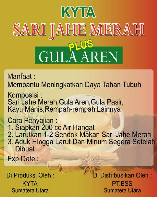 Sari Jahe Merah Premium Plus Gula Aren Shopee Indonesia