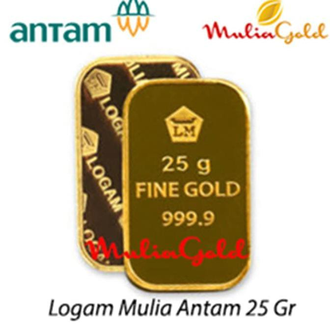 Promo Emas Batangan Hk 9999 Logam Mulia Emas 24k 25 Gram