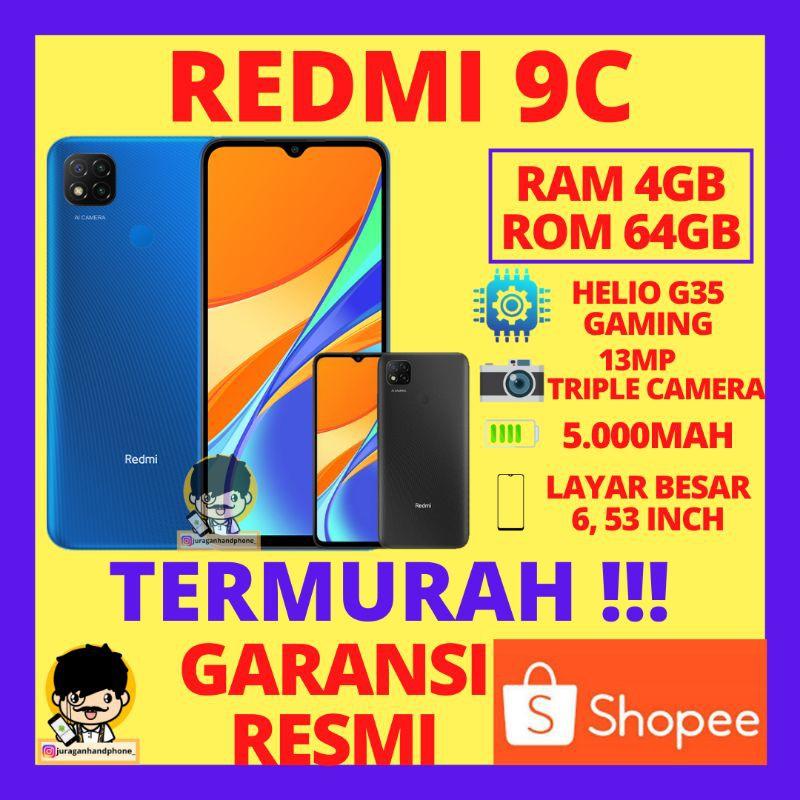 REDMI 9C RAM 4GB INTERNAL 64GB GARANSI RESMI HP XIAOMI XIOMI REDMI 9C 4/64 DAN 3/32 HP MURAH XIAOMI