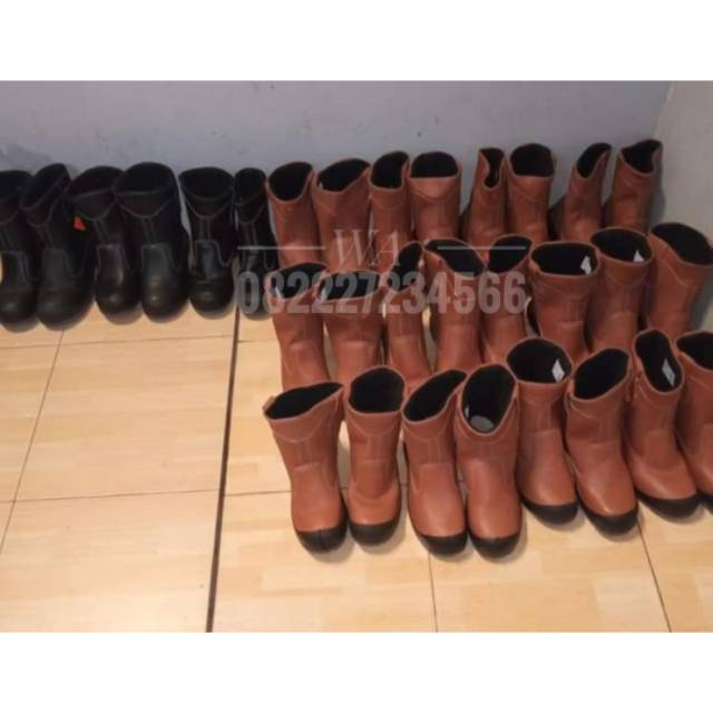Sepatu Boots Kings Original Pria Safety Asli Kulit Prioyek Kerja 01