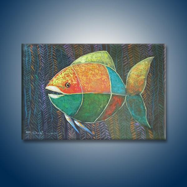 Lukisan Ikan Abstrak Hm125 Shopee Indonesia