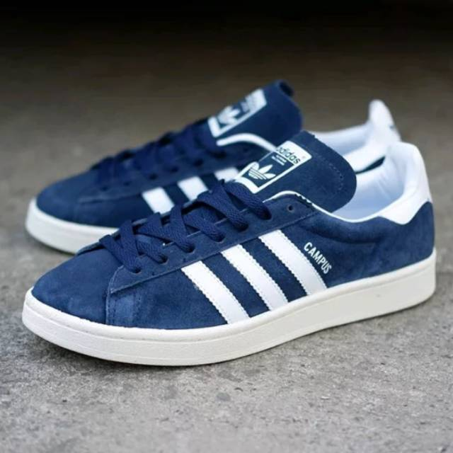 nouvelle collection bdf78 53635 Adidas Campus Navy White Original BNWB
