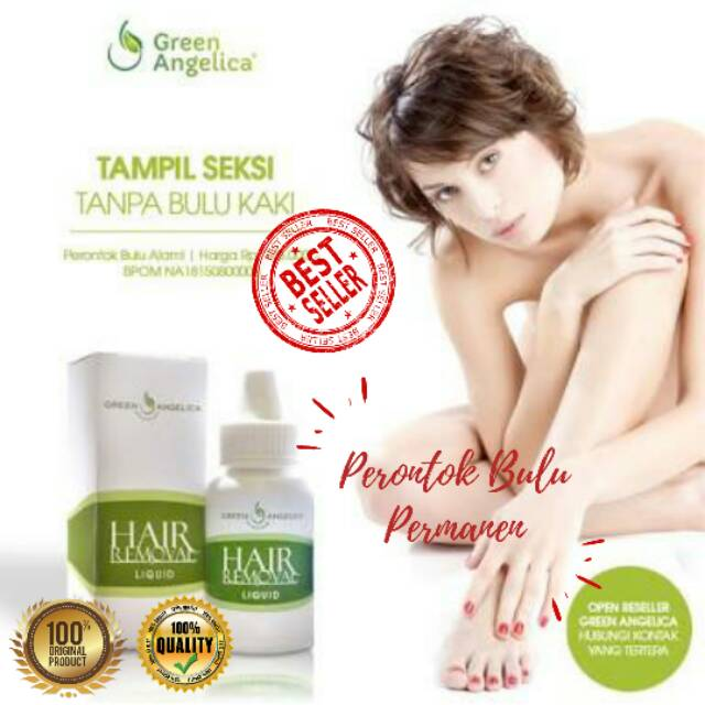 Paket Btl Perontok Bulu Cair Aman Dan Permanen Hair Removal Green Angelica Shopee Indonesia