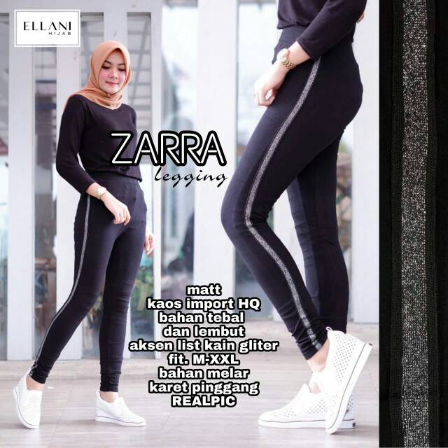 Zarra Legging By Ellani Legging Hitam Legging Wanita Legging Murah Legging Hijab Shopee Indonesia