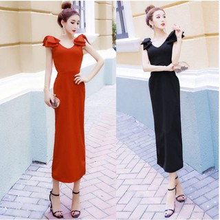 Long Dress Maxi Wanita Sexy Model Off Shoulder Backless Untuk Pesta