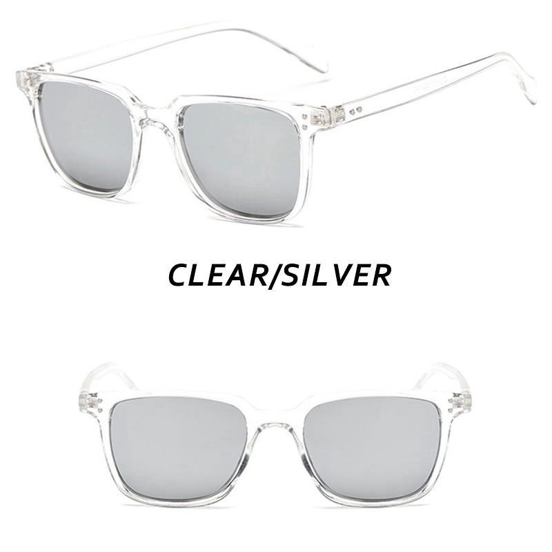 Price Checker Kacamata Hitam Pria / Wanita Model Retro Kotak Kecil UV400 Perlindungan UV400 discount -