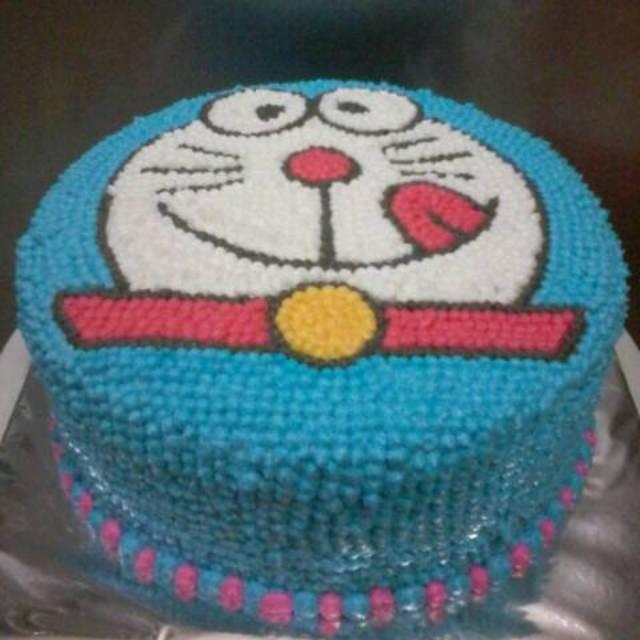 Kue Ulang Tahun Blackforest 20cm Doraemon