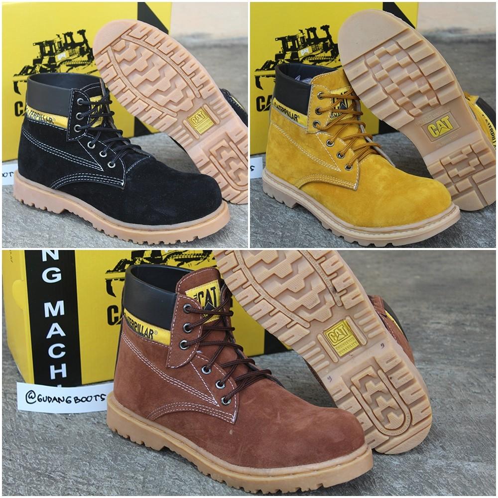 Best Seller Sepatu Caterpillar Low Boots Suede Edition Shopee Indonesia