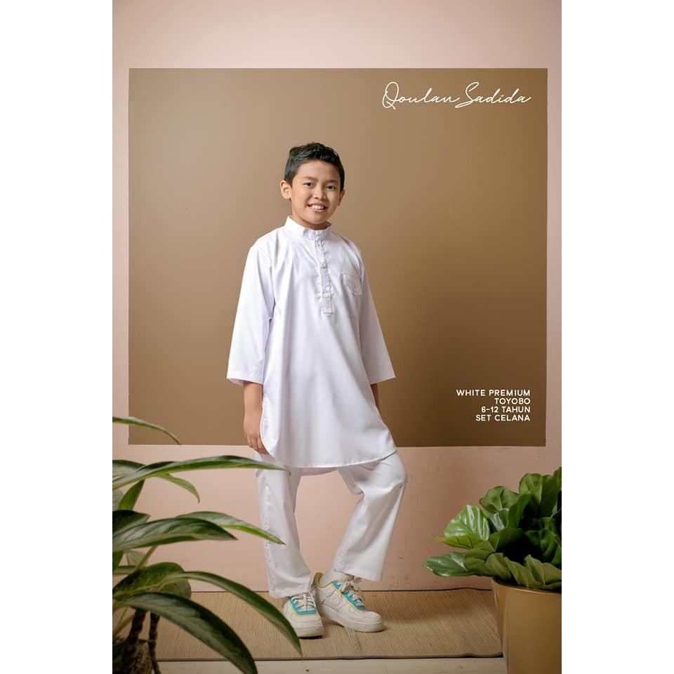Koko Kurta Anak White Premium Series by Qoulan Sadida