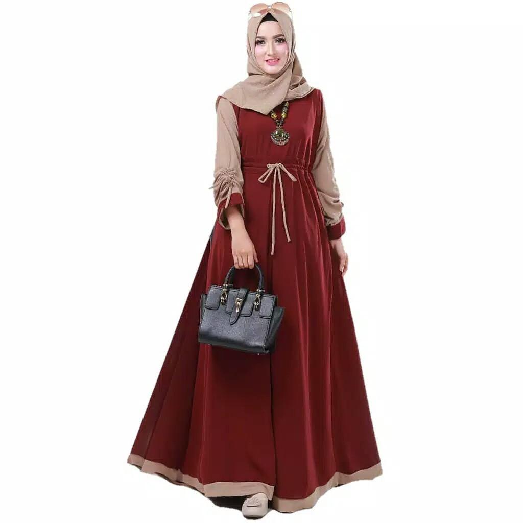 Baju Gamis Wanita Murah Renata Gamis Bahan Balotelli Model Gamis Terbaru dan Terlaris | Shopee Indonesia