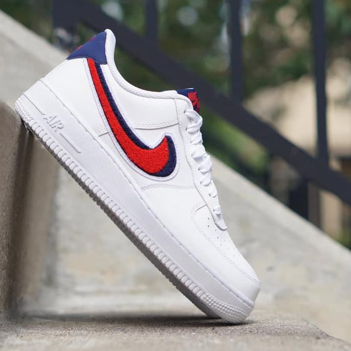 Promo! Nike Air Force 1 Low 3D Chenille Swoosh Premium Quality
