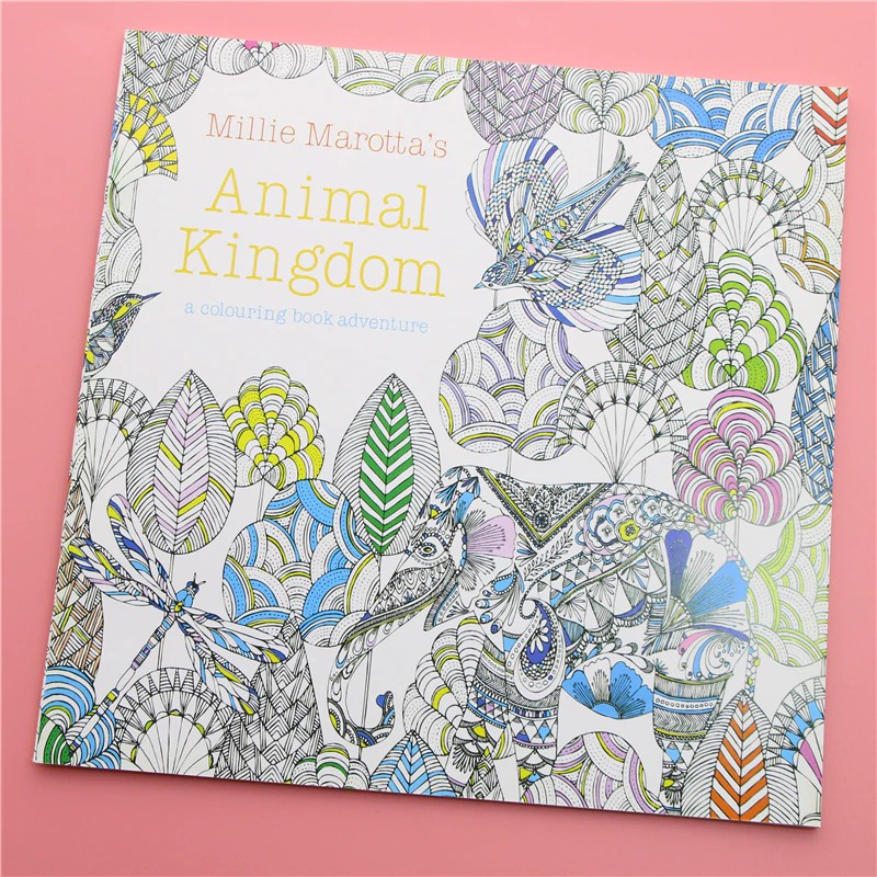 Termurah 24 Pages Animal Kingdom English Edition Coloring Book For