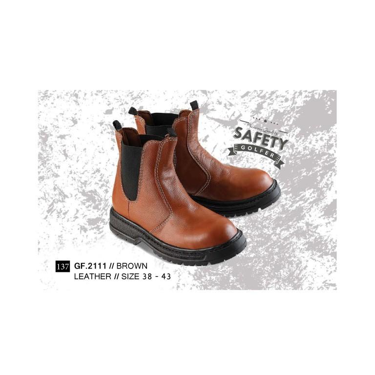 Sepatu Boots Pria Cowboy Jenggel Kulit Tan GF 7835 GOLFER Cibaduyut Bandung  Distro  e9458094a3
