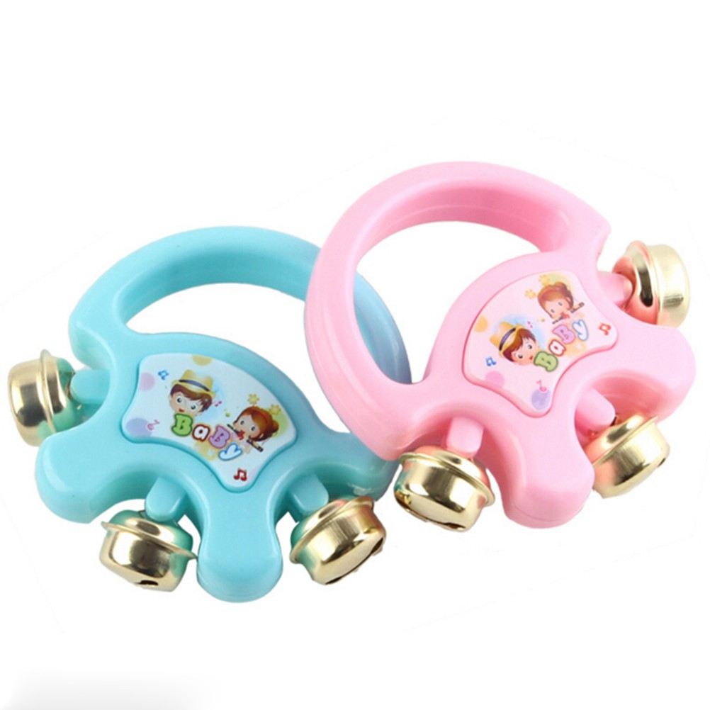 u-hoMEy Wooden Musical Tambourine Drum Rattles Toy Kids Educational Toy