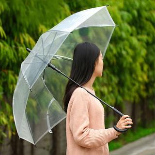 Payung transparan Gagang hitam JAMIN PLASTIK TEBAL Bening transparant Korea Japan High Quality