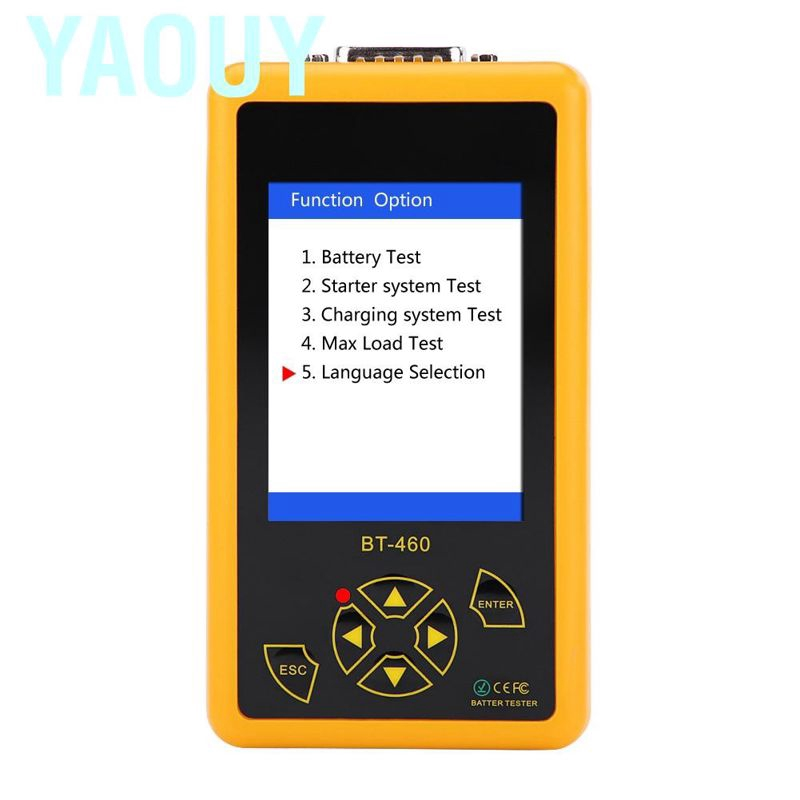 Black Analyzer for 12V Vehicle 24V Heavy Duty Trucks Acid-Resistant ABS Plastic Shell Support Multi-Languages Battery Tester,4 Inch TFT Colorful Display Car Battery Tester Yellow