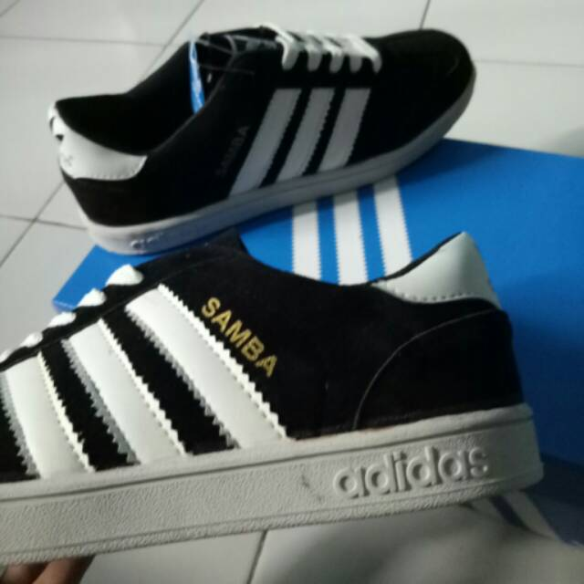 Sepatu Adidas Samba Hitam List Putih Adidas Campus Shopee