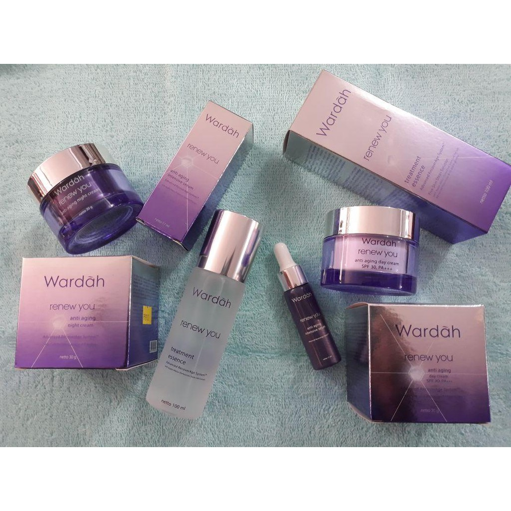 Paket Wardah Renew You Anti Aging Shopee Indonesia Night Cream 30 G