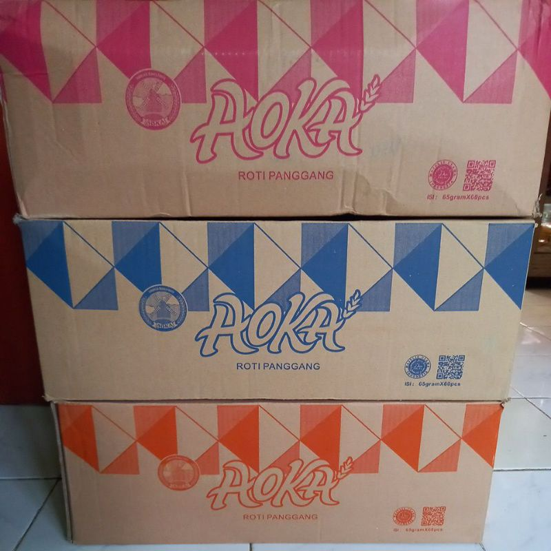 Aoka Roti Panggang 1 dus (65gr x 60pcs)