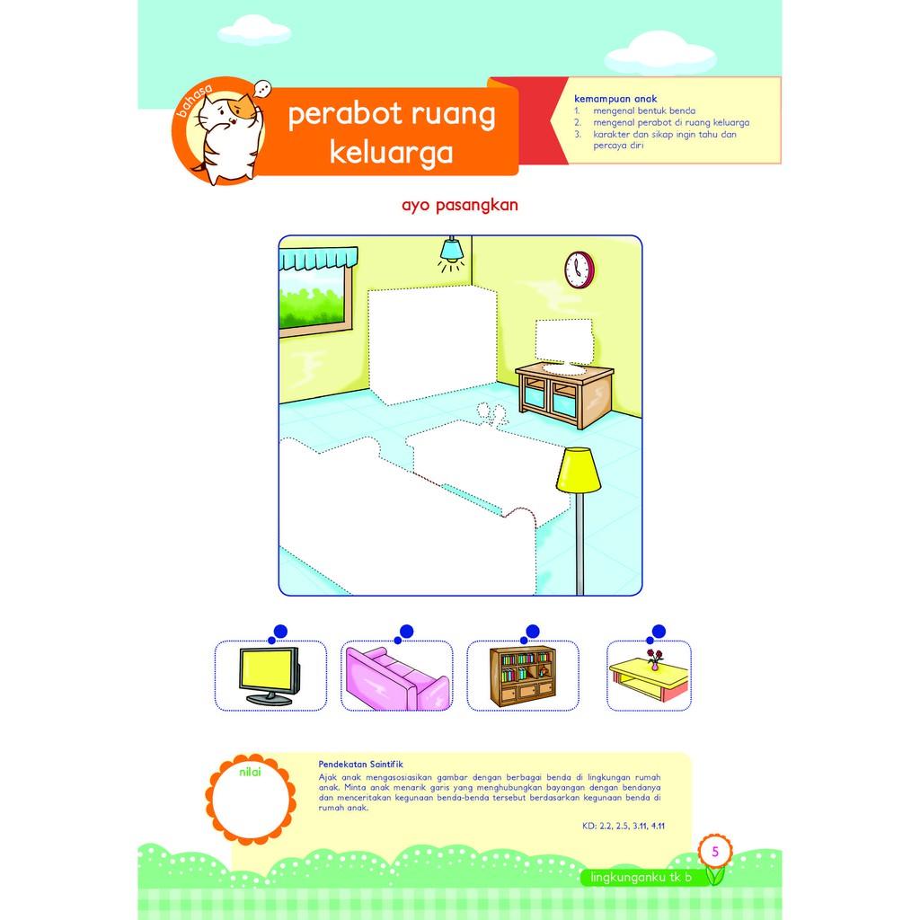Buku Paud Tk Tematik K13 Kelompok B Tema Lingkunganku Shopee Indonesia