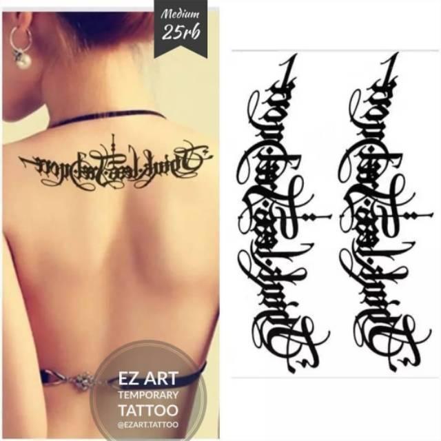 Koleksi Tulisan Tato Temporer Fashion Temporary Tattoo Sementara Hasil Mirip Asli Shopee Indonesia