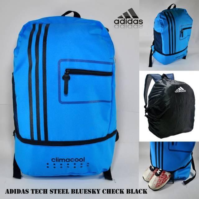 TasRansel - punggung pria Adidas tech steel sekolah anak kuliah laptop kerja distro murah