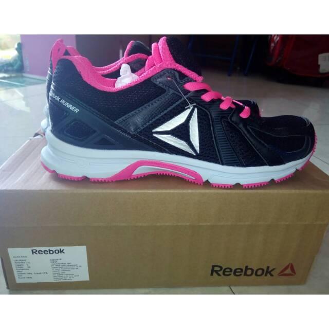 Sepatu Reebok Runner Hitam Pink Size 38 Shopee Indonesia